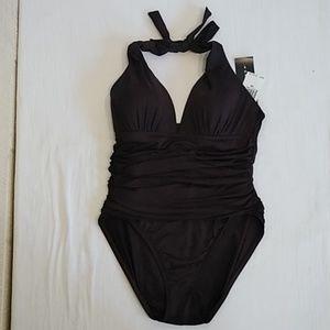 La Blanca one piece brown swimsuit